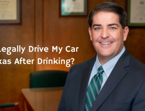 Can I Legally Drive My Car In Texas After Drinking?