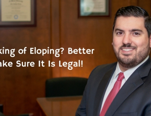 Thinking of Eloping? Better Make Sure It Is Legal!