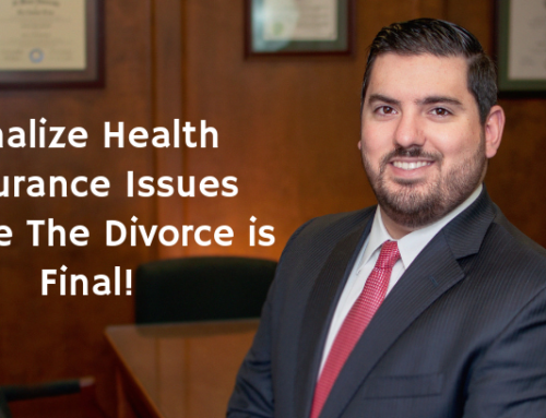 Finalize Health Insurance Issues Before The Divorce is Final!