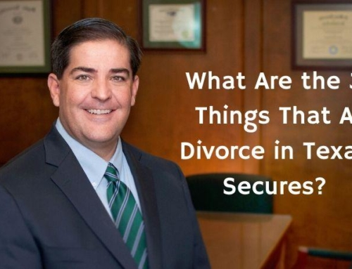 What Are the 3 Things That A Divorce in Texas Secures?